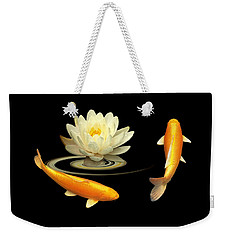 Circle Of Life - Koi Carp With Water Lily Weekender Tote Bag