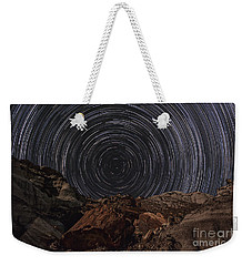 Weekender Tote Bag featuring the photograph Circle Of Time by Melany Sarafis