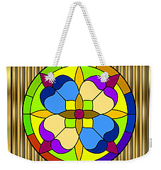 Circle On Bars 3 Weekender Tote Bag