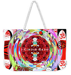 Circle Rage Weekender Tote Bag
