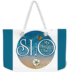 Circle Slo My Happy Place- Seascape Colors Weekender Tote Bag
