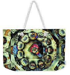 Circled Squares Weekender Tote Bag by Ron Bissett