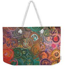 Weekender Tote Bag featuring the digital art Circles  by Riana Van Staden