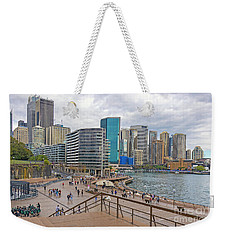 Weekender Tote Bag featuring the photograph Circular Quay, Sydney, Australia by Elaine Teague