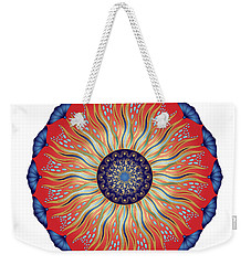 Weekender Tote Bag featuring the digital art Circularium No. 2627 by Alan Bennington
