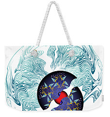 Weekender Tote Bag featuring the digital art Circularium No 2635 by Alan Bennington