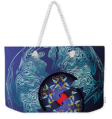 Weekender Tote Bag featuring the digital art Circularium No 2636 by Alan Bennington