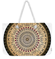 Weekender Tote Bag featuring the digital art Circularium No 2637 by Alan Bennington