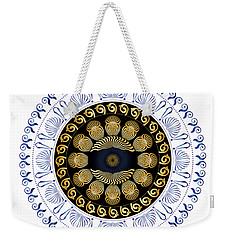Weekender Tote Bag featuring the digital art Circularium No 2638 by Alan Bennington