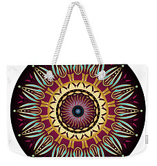 Weekender Tote Bag featuring the digital art Circularium No 2639 by Alan Bennington