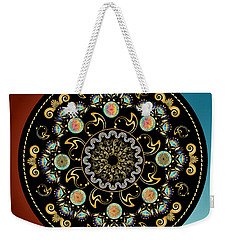 Weekender Tote Bag featuring the digital art Circularium No 2640 by Alan Bennington
