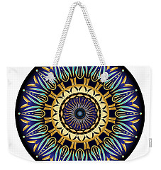 Weekender Tote Bag featuring the digital art Circularium No 2641 by Alan Bennington