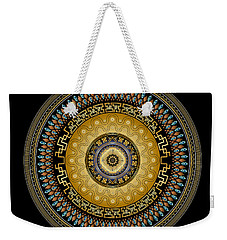 Weekender Tote Bag featuring the digital art Circularium No 2642 by Alan Bennington