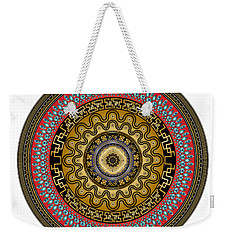 Weekender Tote Bag featuring the digital art Circularium No. 2644 by Alan Bennington