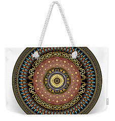 Weekender Tote Bag featuring the digital art Circularium No 2645 by Alan Bennington