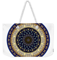 Weekender Tote Bag featuring the digital art Circularium No 2648 by Alan Bennington