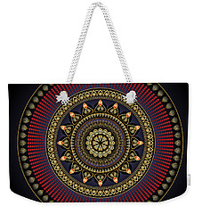 Weekender Tote Bag featuring the digital art Circularium No 2649 by Alan Bennington