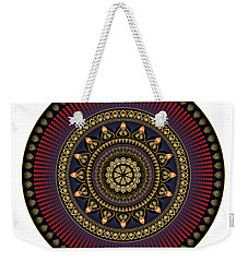 Weekender Tote Bag featuring the digital art Circularium No 2650 by Alan Bennington