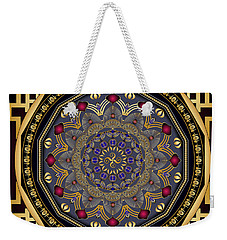 Weekender Tote Bag featuring the digital art Circularium No 2651 by Alan Bennington