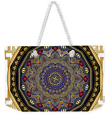 Weekender Tote Bag featuring the digital art Circularium No 2652 by Alan Bennington