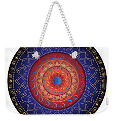Weekender Tote Bag featuring the digital art Circularium No 2654 by Alan Bennington