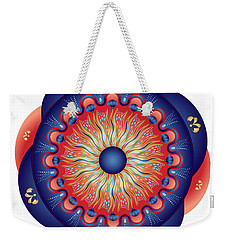 Weekender Tote Bag featuring the digital art Circularium No 2655 by Alan Bennington