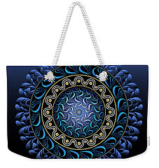 Weekender Tote Bag featuring the digital art Circularium No 2656 by Alan Bennington