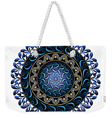 Weekender Tote Bag featuring the digital art Circularium No 2657 by Alan Bennington