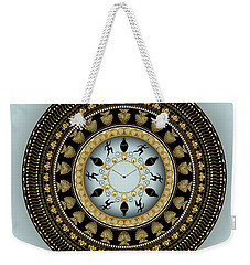 Weekender Tote Bag featuring the digital art Circularium No 2658 by Alan Bennington