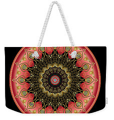 Weekender Tote Bag featuring the digital art Circularium No 2659 by Alan Bennington