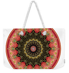 Weekender Tote Bag featuring the digital art Circularium No 2660 by Alan Bennington