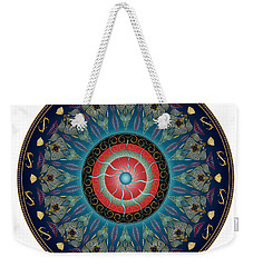Weekender Tote Bag featuring the digital art Circularium No 2661 by Alan Bennington