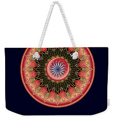 Weekender Tote Bag featuring the digital art Circularium No 2662 by Alan Bennington