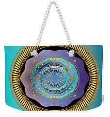 Weekender Tote Bag featuring the digital art Circularium No 2663 by Alan Bennington