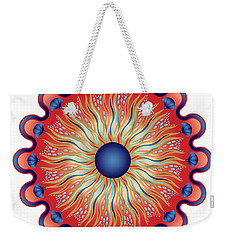 Weekender Tote Bag featuring the digital art Circularium No 2664 by Alan Bennington