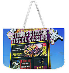 Circus Circus Sign In The Day Weekender Tote Bag by Aloha Art
