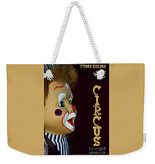 Weekender Tote Bag featuring the photograph Circus Clown By Kaye Menner by Kaye Menner
