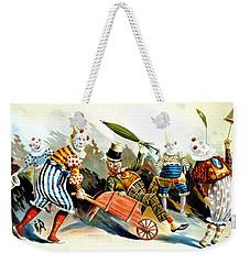 Circus Clowns - Vintage Circus Advertising Poster Weekender Tote Bag