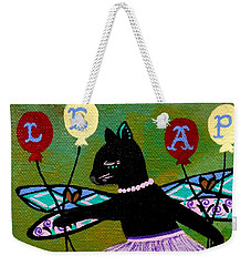 Circus Kitty Leap Weekender Tote Bag