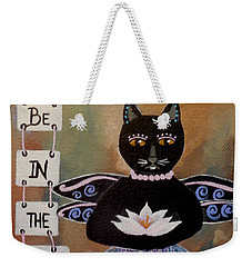 Circus Kitty Meditating With Lotus Flower Weekender Tote Bag