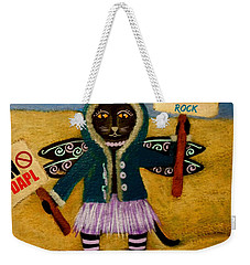 Circus Kitty Stands With Standing Rock Weekender Tote Bag
