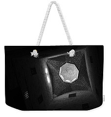 Weekender Tote Bag featuring the photograph Citadel Dome Of Alex Bw by Donna Corless