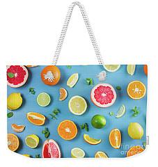 Citrus Summer Weekender Tote Bag
