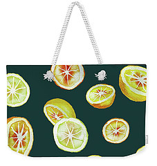 Citrus Weekender Tote Bag by Varpu Kronholm