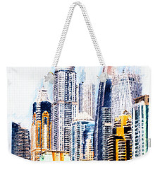 Weekender Tote Bag featuring the digital art City Abstract by Chris Armytage