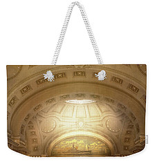 Weekender Tote Bag featuring the photograph City - Annapolis Md - Bancroft Hall by Mike Savad