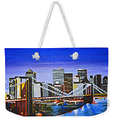 City At Twilight Weekender Tote Bag by Donna Blossom