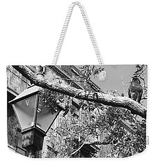 City Bird Black And White Weekender Tote Bag
