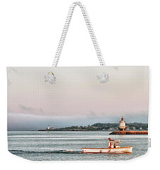 Weekender Tote Bag featuring the photograph City Bound by Richard Bean