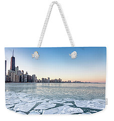 City By The Frozen Lake Weekender Tote Bag